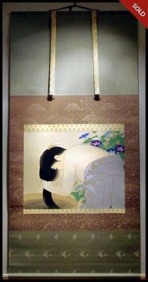 Torii Kotondo - Washing The Hair (1920-30)