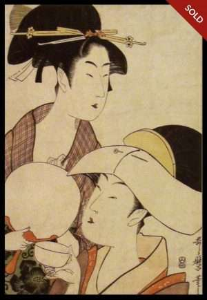 Utamaro - Beauty Holding A Fan