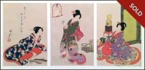 Chikanobu - Daily Activities of Women (1890)