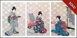 Chikanobu - Today's Beauties (c. 1890)
