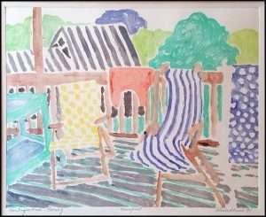 Gloria Plevin - Chautauqua Porch Morning (1991)