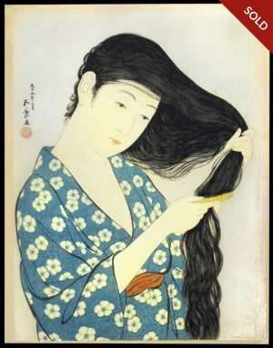 Hashiguchi Goyo - Combing The Hair (1920)