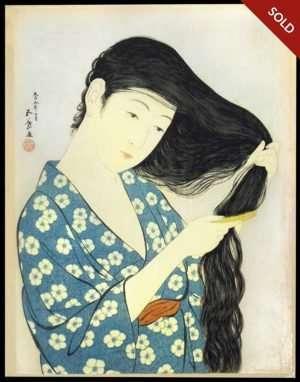 Hashiguchi Goyo - Combing The Hair (1920)