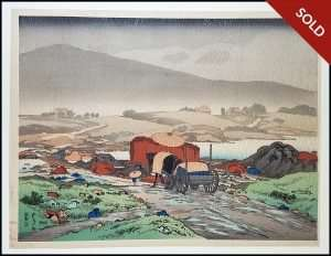 Hashiguchi Goyo - Rain at Yabakei Vallery Kyushu (1918)