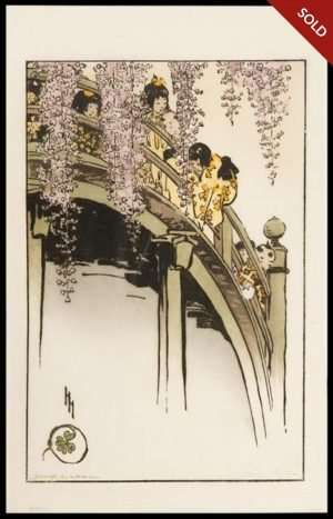 Helen Hyde - Moon Bridge at Kameido (1914)