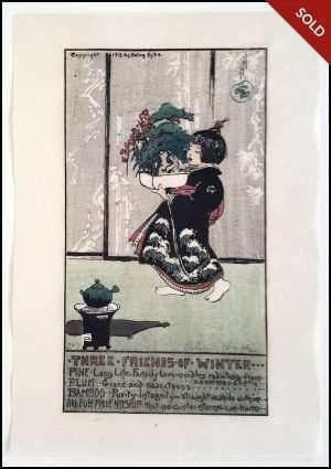 Helen Hyde - Three Friends of Winter (1913)