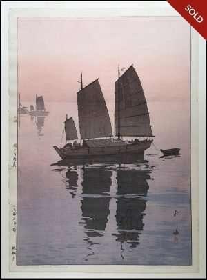 Hiroshi Yoshida - Sailing Boat Evening (1926)