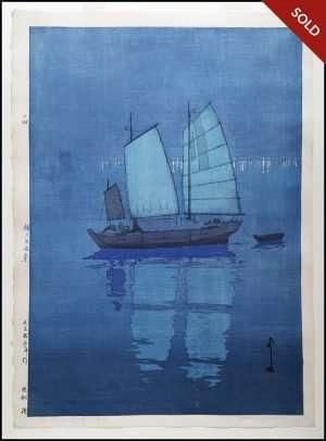 Hiroshi Yoshida - Sailing Boats Night (1926)