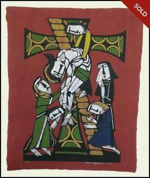 Sadao Watanabe - Deposition, Lowering Jesus from the Cross (1973)
