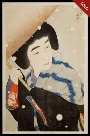 Torii Kotondo - Peony Snow (1931)