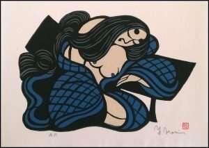 Yoshitoshi Mori - Sleeping Woman Blue (1974)