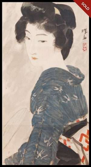 Ito Shinsui - Bijin (Beauty) Fanning Herself (1918)
