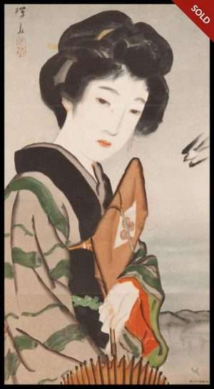 Ito Shinsui - Bijin (Beauty) with Umbrella (1918)