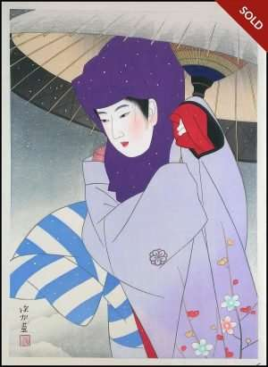 Ito Shinsui - Purple Hood (1950)