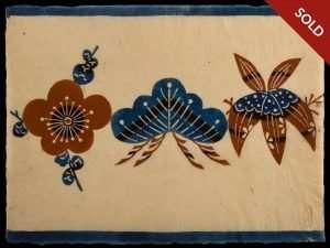 Keisuke Serizawa - Shochikubai (Pine, Bamboo, Plum) Goodluck Symbol (1955-80)