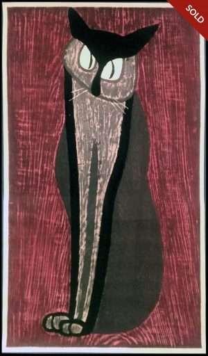 Kiyoshi Saito - Steady Gaze, detail (1950)