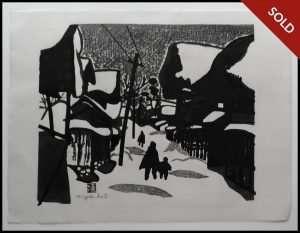 Kiyoshi Saito - Winter in Aizu (1950)