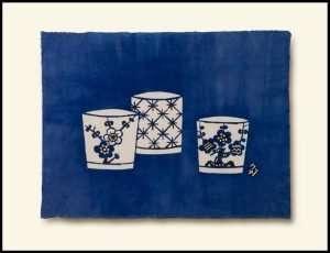 Masahiko Takada - Sake Cups, Indigo (2011)