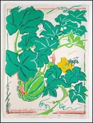 Mayumi Oda - Pumpkin, Green Gulch Seed Catalogue Series (1980)