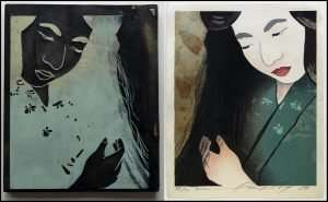 Daniel Kelly - Junko and Original Woodblock (1989)
