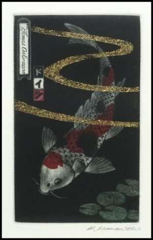 Katsunori Hamanishi - Doitsu Carp, Exlibris (2018)