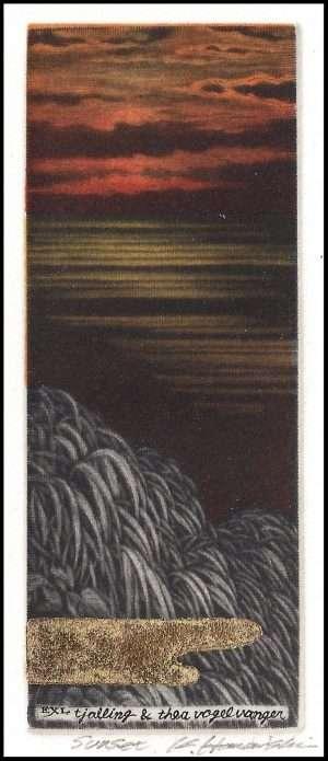 Katsunori Hamanishi - Sunset, Exlibris