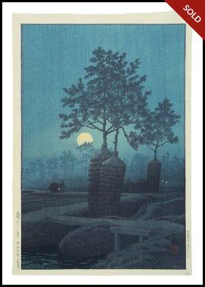 Hasui - Moon at Gamo (1932)