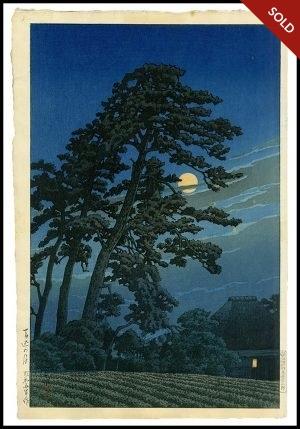 Hasui - Moon at Magome (1930)
