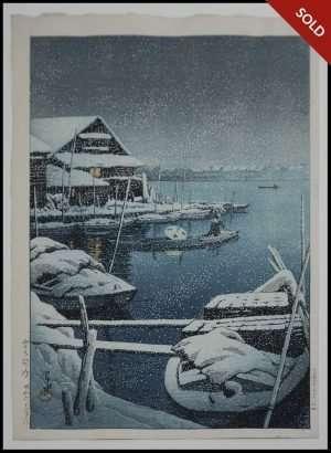 Hasui - Snow at Mukojima (1931)