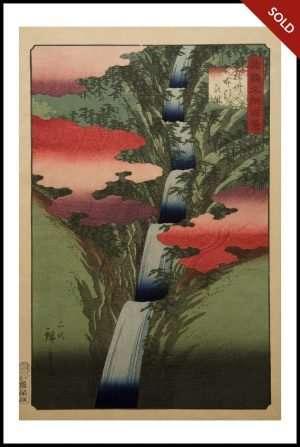 Hiroshige II - Nunobiki Waterfall, Settsu (1859)