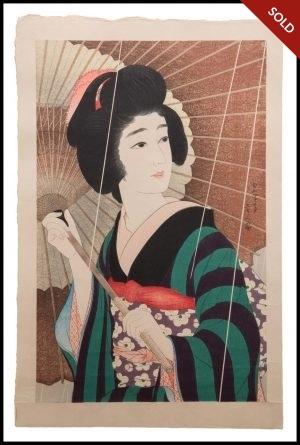 Torii Kotondo - Ame (1929)