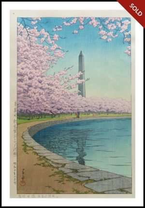 Hasui - Washington Monument on the Potomac River (1935)