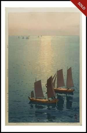 Hiroshi Yoshida - Glittering Sea (1926)