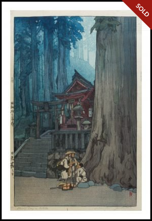 Hiroshi Yoshida - Misty Day in Nikko (1937)