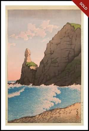 Hasui - Setakamui Rock, Shiribeshi (1933)