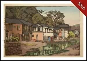 Hiroshi Yoshida - Small Town in Chugoku (1933)
