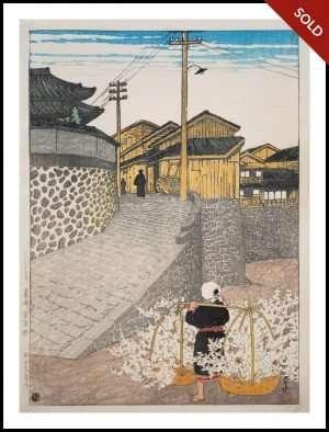 Hasui - Kanaya cho, Nagasaki (1923)