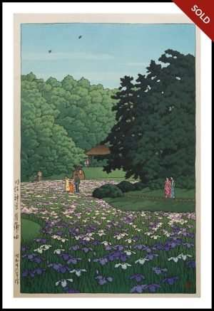 Hasui - Shoubu Garden, Meiji Shrine (1951)