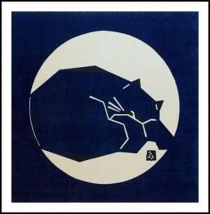 Masahiko Takada - Moon Viewing Cat II, Sleeping Cat (2012)
